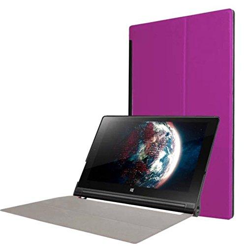 Tasche für Lenovo Yoga Tab 3 10 YT3-X50 F L 10.1 Zoll Schutz Hülle Flip Tablet Cover Case (Lila)