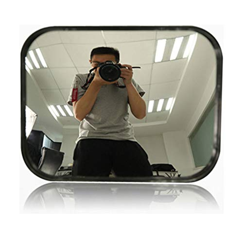GXFC Specchio di Sicurezza Convesso, Vetro grandangolare rettangolo HD, Interno Memorizzare e Ufficio Sicurezza, Nero, 24 x 18 cm