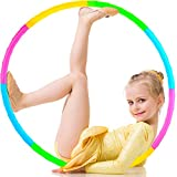 SIERLIKY Fitness Exercise Hoops for Kids, Detachable Adjustable Weight Size Colorful Exercise Hoops for Toy Gifts, Gymnastics, Playing Lose Weight, Suitable as Boys and Girls