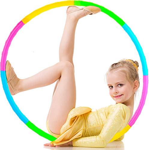 SIERLIKY Fitness Exercise Hoops for Kids Detachable Adjustable Weight Size Colorful Exercise Hoops for Toy Gifts Gymnastics Playing Lose Weight Suitable as Boys and Girls