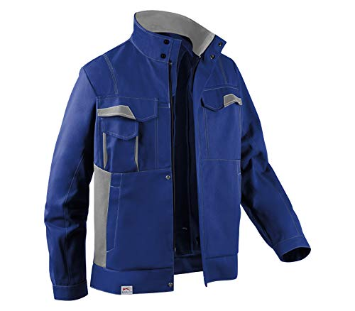 KÜBLER IMAGE DRESS NEW DESIGN Arbeitsjacke blau, Größe 48, Herren-Arbeitsjacke aus verstärkter Baumwolle, robuste Arbeitsjacke von KÜBLER Workwear