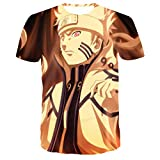 Impresión 3D Camiseta de Anime Camiseta de Hombre Camiseta Casual de Verano Camiseta de algodón Camiseta de Amante del Anime Novedad Creativa Manga Corta