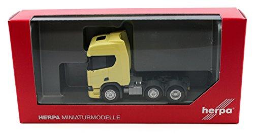 Herpa 308816 Scania CR 20 HD 6x2 stijve trekker, lichtgeel gekleurd