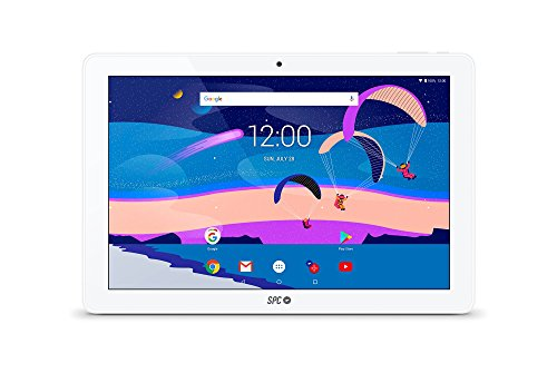 SPC Gravity - Tablet con pantalla IPS HD 10.1 pulgadas, memoria interna 32GB, RAM 3GB, WiFi y Bluetooth – Color Blanca