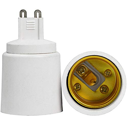 Adaptador convertidor portalámparas convierte bombillas casquillo E27 en G9 220 V