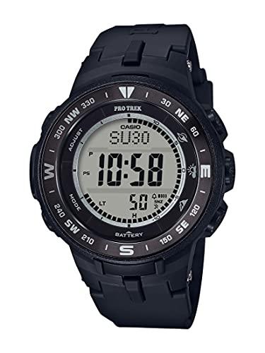 Casio PRO TREK Reloj de cuarzo de acero inoxidable con correa de resina, negro, 23 (Modelo: PRG-330-1ACR)