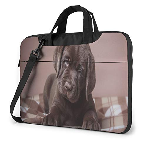 Marvellous Brown Labrador Dog Puppy Laptop Case 13 Inch Computer Carrying Protective Case with Strap Bag