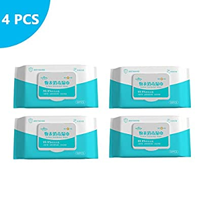 Universal Disinfectant Wipes - Pack of 50 Large Wipes 4pcs (4, BULE) from Aobp