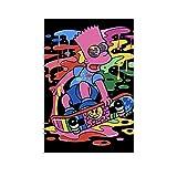 FUUU Animationsfarbengemälde Homer Jay Simpson Bart
