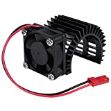Hobbypark RC Brushless / Brushed 550 540 Motor Heatsink with Cooling Fan DC 5-6V for RC Crawler Car Truck Off Road Buggy Electric Engine