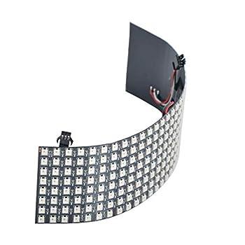 WESIRI 8x32 LED Matrix 256 Pixels WS2812B Digital Flexible LED Panel Individually Addressable Full Dream Color DC5V