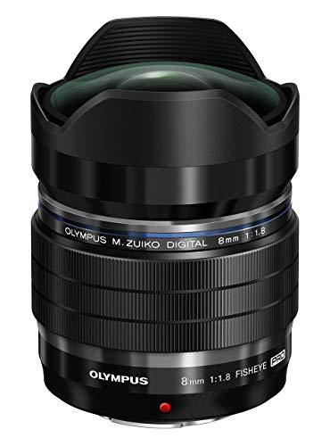 Olympus M.Zuiko Digital ED 8mm F1.8 PRO Objektiv, lichtstarke Festbrennweite, geeignet für alle MFT-Kameras (Olympus OM-D & PEN Modelle, Panasonic G-Serie), schwarz