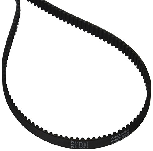 BESTORQ 1304-8M-20 8M Timing Belt, Rubber, 1304 mm Outside Circumference, 20 mm Width, 8 mm Pitch, 163 Teeth