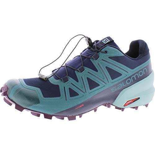 SALOMON Women's Speedcross 5 Shoes Trail Running Shoes Running Shoes, navy blazer-mediterranea-poten, 7.5 UK