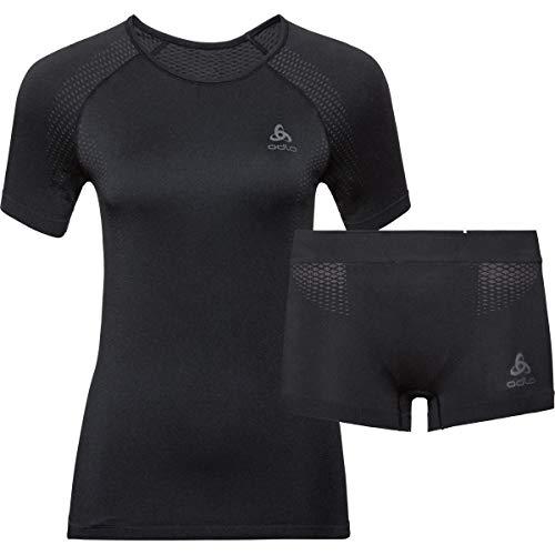 Odlo Damen Set Performance Essentials Light Trainingsanzug, schwarz Graphitgrau, M