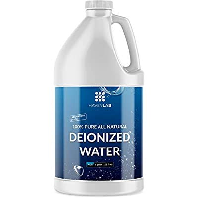 Deionized Water - Demineralized Purification Softener in Jug - for Sterile Washing & Cleaning - Automotive Battery Cooling, Laboratory Equipment, Watering Plants