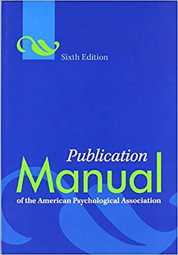 Publication Manual of the American Psychological Association 6th Edition by American Psychological Association: Kindler Edition (English Edition)