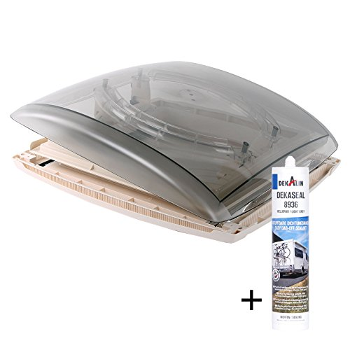 MPK Dachfenster Dachhaube Vision Vent M Pro klar 40x40 cm Dachstärke 24-56 mm 47P + Deklain Dichtmittel