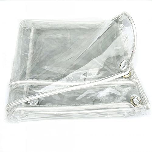 Lona Transparente,0.3MM lona transparente impermeable, resistente a la intemperie, para pérgola, porche, cenador, cabaña/interior con ojales inoxidables(Size: 4x6m/13.1x19.7ft)