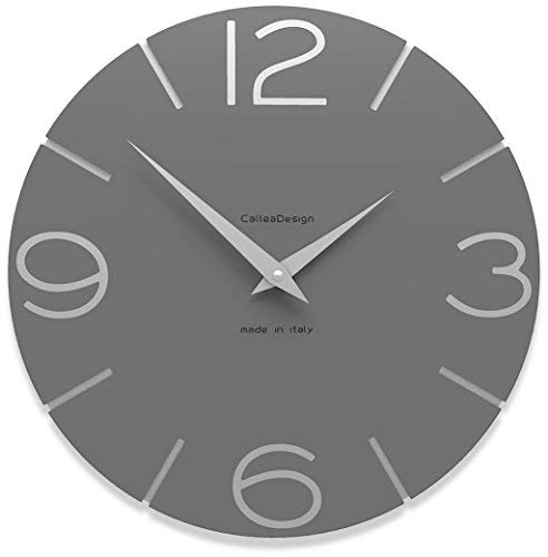CalleaDesign 30 cm Smile Grey Quartz Wanduhr