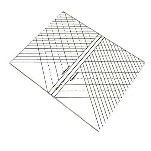 NIDONE Regla de Acolchado, acrílico Transparente Acolchado, modulación o Regla de Patchwork para Cortar y medir