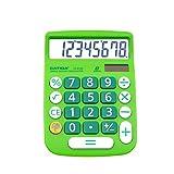 CATIGA calcolatrice di base: cd-8185 di office e home style calculator - 8 cifre - istruzione - adatto per la scuola e destop-uso (verde)
