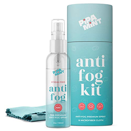 Anti Fog Spray for Glasses 2oz - Anti-Fog for Glasses - Anti Reflective for Glass, Goggles, Mirrors, Helmets, Windows - Antifogging Spray for Glasses - Long Lasting Solution - Cloth Included