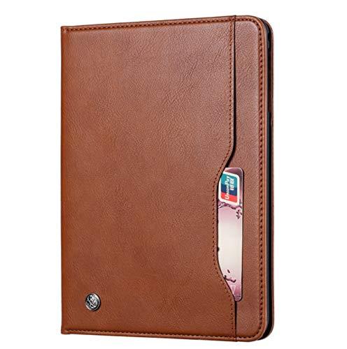 DANYCU Cáscara de la Tableta PU Compatible con Samsung Galaxy Tab S6 Lite P610 / P615 Funda Protectora de la Tableta con Patada Moderno Funda a Prueba de choques para Hombre Hombre,Marrón