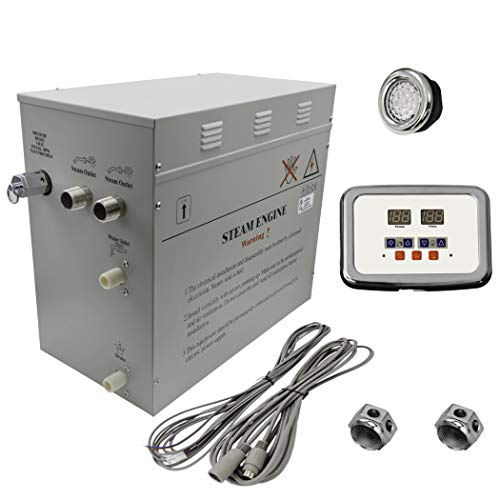 Find Discount Superior 12kW Self-Draining Steam Bath Generator with Waterproof Programmable Controls...