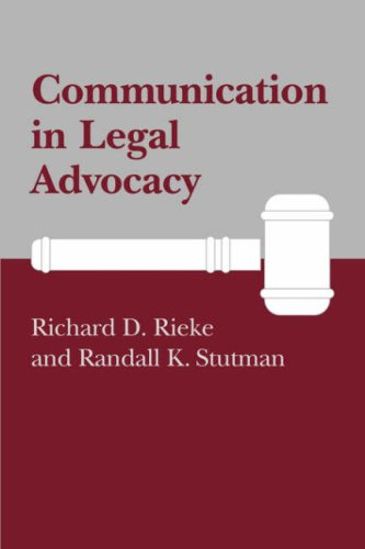 Communication in Legal Advocacy (Studies in Communication...