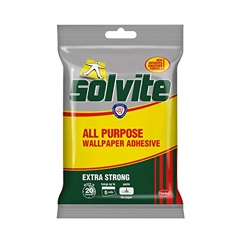 SOLVITE Extra Strong All Purpose Wallpaper Adhesive Retail Sachet 5 Roll