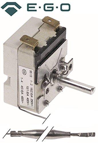 EGO 55.13032.400 Thermostat für Fritteuse Bartscher Imbiss II, Imbiss I max. Temperatur 190°C 1-polig Fühler ø 6x77mm 1NO 23mm