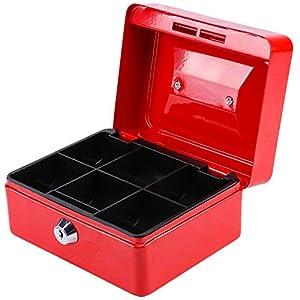 Caja de Efectivo, Caja Fuerte Portátil, Money Caja de Seguridad, Caja de Caudales con Compartimientos para Monedas y Billetes Para El Hogar, La Escuela, Los Niños