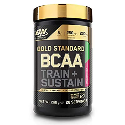 Optimum Nutrition Gold Standard BCAA Powder Branch Chain Amino Acids Supplement with Vitamin C, Wellmune and Electrolytes for Intra Workout Support, Apple and Pear, 28 Servings, 266 g