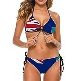YJWLO Montserrat Emblema Nacional para mujer Bikini Set Traje de baño Playa Trajes