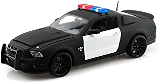 2012 Ford Shelby Mustang GT500 Super Snake Unmarked Black/White Police Car 1/18 by Shelby Collectibles SC462