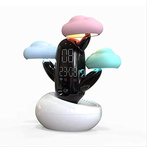 Guo weer, smart alarm, licht, slaapkamer, decoratie, USB wireless charging, voice broadcast, LED digitale klok wit
