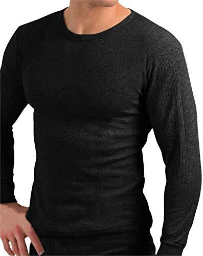 normani 3er Pack Thermohemd Herren-Thermounterwäsche - Thermo-Unterhemd auch in Übergrößen [XS - 4XL] Farbe Schwarz Größe 4XL