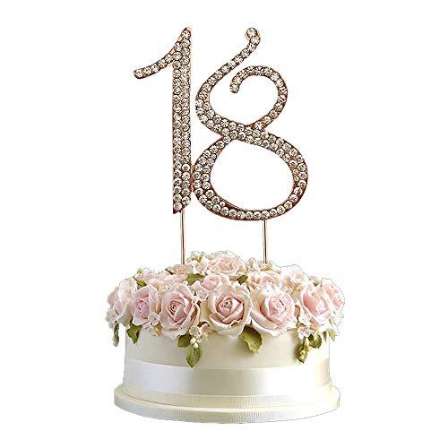 18 Número Rhinestone Cake Topper, Decoración Pastel Número 18, Decoración de La Torta Del 18 Aniversario, Utilizado para La Fiesta Del 18 Cumpleaños, Decoración de La Fiesta de Aniversario