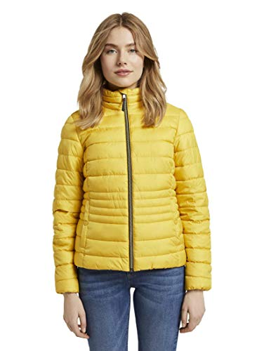TOM TAILOR Damen Jacken Leichte Steppjacke mit Stehkragen California Sand Yellow,L,24270,3000