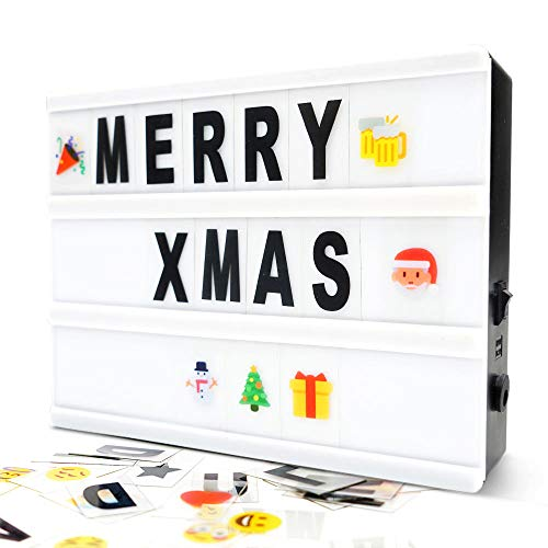 Gemaxvoled Cinematic Light Box- A5 Magnetic Mini Cinema Light Box with 160 Letters Numbers and Symbols, Customized Your Own Message for Home Decoration,Wedding,Birthday Parties
