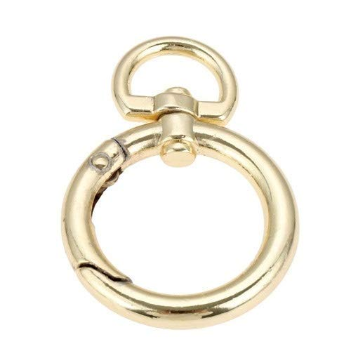 1Pc Luggage Bag Buckle Snap Hook Clip Snap Hooks O Ring Bag Handbag Hook Round Trigger Spring Keyring Buckle DIY Accessories (Color : 19MM D) (Color : 25mm E)