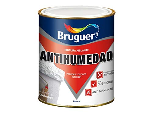 BRUGUER 8410481901758 Pintura Antihumedad 750 ML, Negro