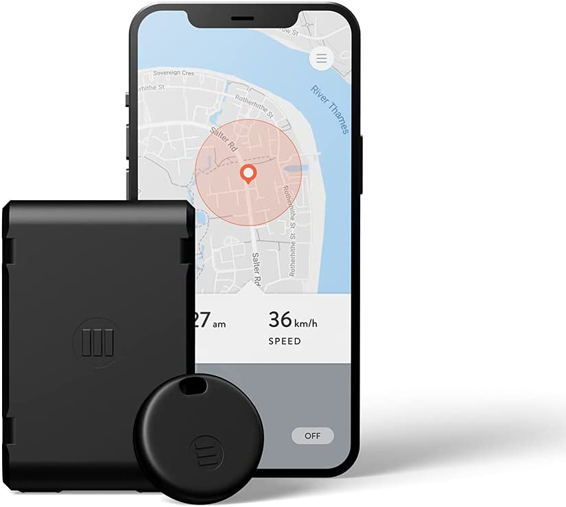 MoniMoto 7 - Smart Motorcycle GPS Tracker and Alarm - Suitable for Scooters, Quad Bike ATVs, Snowmobiles - DIY Installation, No Wiring Required