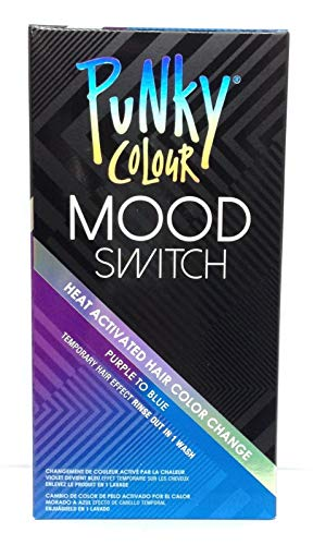 Punky Colour Purple To Blue Mood Switch Heat Activated Hair Color Change, Temporary Hair Effect