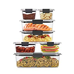Rubbermaid 2108377 Brilliance Storage 14-Piece Clear Container