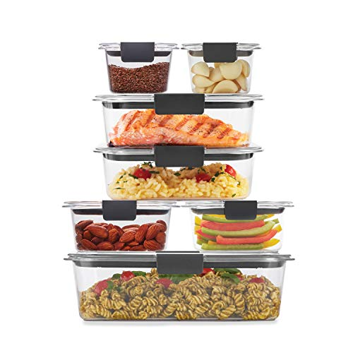 Rubbermaid Brilliance Storage 14Piece Plastic Lids | BPA Free Leak Proof Food Container Clear