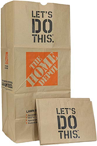 Home Depot Heavy Duty Brown Paper 30 Gallon Lawn and Refuse Bags for Home...