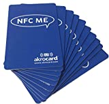 Pack 10 Tarjetas Identificativas VCARD NFC-ME : Ntag 216 de 888 Bytes. Compatible con Amiibo, namiio, maxlander, Tagmo…