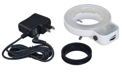 OMAX 144 LED Focused Bright Shadowless Ring Light for Stereo Microscope